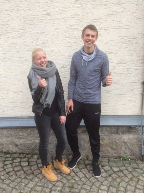 Jugendsprecher Leonie Reiß und Hannes Scherm